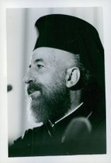 side view portrait of  Makarios, Archbishop, Cyprus