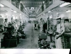 People working in the factory.