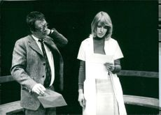 """Allan Edwall and Anna Godenius in the """"Horse"""""""