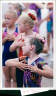 Six year old Bonnie Abbott of Burgh St Peter prormin routine during the Norfolk Dance Association