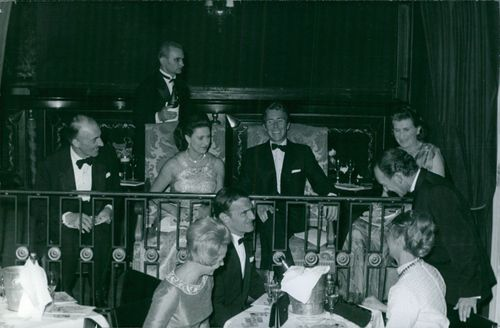 Princess Margaret, Countess of Snowdon with her husband Antony Armstrong-Jones and other people.