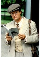 "Actor David McCallum in the role of John Gray in BBC's TV Series ""Trainer""."