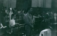 Nguyễn Cao Kỳ, Prime minister of South Vietnam, saying his prayers at a church.