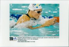 Olympic Games in Atlanta 1996. Louise Karlsson's new Swedish record of 200 meters medley at Wednesdays experimental