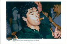 Diego Maradona loses the party after the fashion show by Roberto Giordano