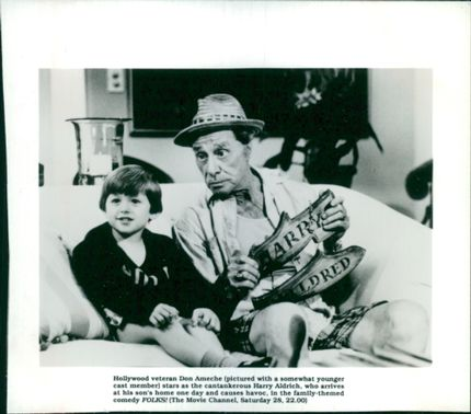 Don Ameche with Harry Aldrich.