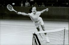 Tennis player Stan Smith during a match at Stockholms Open.