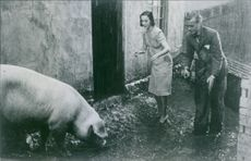 """Marianne Aminoff and Hasse Ekman in the scene from he movie, """"Thunder and Lightning"""" (Swedish: Blixt och dunder)."""