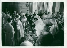 From the wedding between Furst Rainier III of Monaco and Grace Kelly
