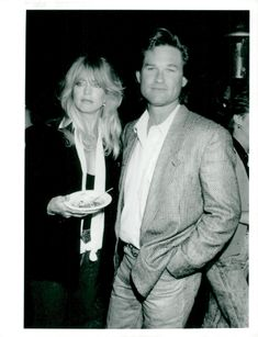 Actors Goldie Hawn and Kurt Russell