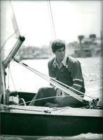 Prince Andrew on boat.