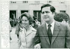Watergate conspiracy Jeb Stuart Magruder and wife Gail leave the U.S District Court after trial that gave Jeb Stuart Magruder 10 months in prison.