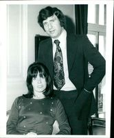 Irvine Sellars with his wife.