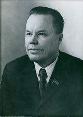 Portrait of Timofey Guzhenko. Former minister of the Marchant Fleet of the Soviet Union.