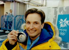Portrait image of Niklas Jonsson who took silver in 50 km of individual launch.
