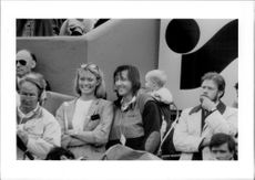 Ilie Nastase with girlfriend in French Open