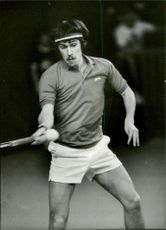 Soviet tennis player Vadim Borisov during the Davis Cup 1982