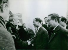 William Averell Harriman shaking hands with Nguy?n Cao K?, 1968.