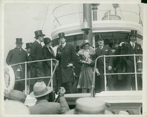 Swedish Crown Prince Gustaf VI Adolf and Louise Mountbatten's trip to the United States and Japan in 1926.