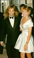 Andre Agassi and Steffi Graf at Savoy Hael, London.