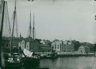 Oskarshamn. Paired with the harbor with the new customs chamber