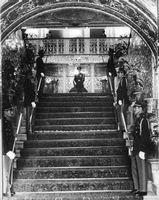 Guard of honor on stairs.