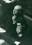 Georges Bidault looks very sympathetic during the debate on the Gaulle proxies