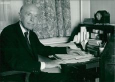 Sir Alec Douglas-Home at his desk