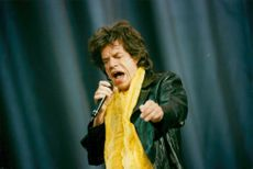 Mick Jagger during The Rolling Stones concert at Stade de France