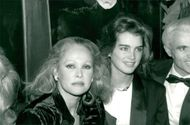 Ursula Andress and Brooke Shields at Gala Dinner at Regine Nightclub in conjunction with the Piaget World Polo Cup Tournament