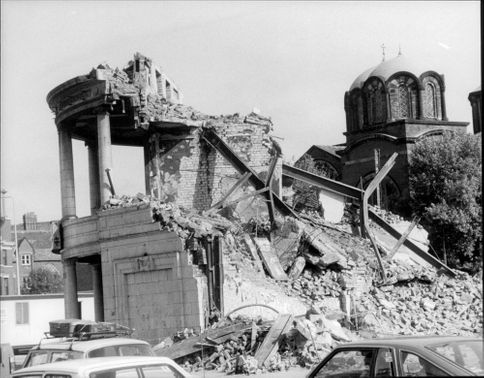 Destruction after the ravines in Liverpool.