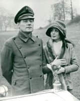 """Sarah Miles and Robert Shaw in """"The Hireling"""""""