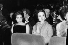 Actress in the cinema hall.  - Feb 1964