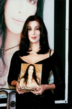 Cher on book and CD signing