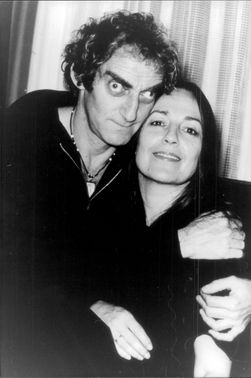 Portrait image of actor Marty Feldman and his wife Loretta taken in an unknown context.