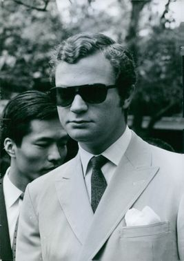 Well dressed Carl XVI Gustaf, portrait. 1970