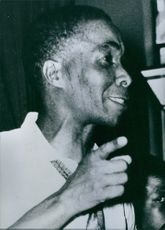 South African Treason Trial: Govan Mbeki - One of the nine accused in the South African treason trial charged with conspiring to commit acts of sabotage and furthering the aims of communism. 1964