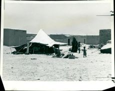 A Moorish nomad's tent at Nouakchott