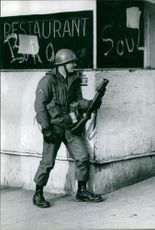 Army and National Guard troops during the King assassination riots, 1968.