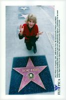 Signe Hasso at his star on the sidewalk of Hollywood's paradise Walk of Fame