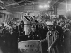 Pope Paul VI standing and smiling.