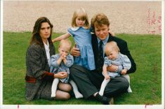 Earl Spencer and Lady Spencer with their children
