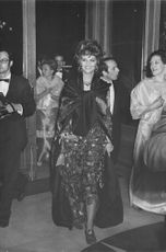 Claudia Cardinale, arriving at a function.