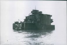 Armoured liquid fast off England's north coast.