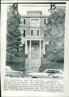View of Mrs. Jacqueline Kennedy New Home in Georgetown,  Washington U.S.A.