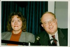 Dr Nigel Cox with his wife.