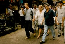 """Jim Threapleton and Kate Winslet at the Records of Jane Campion's """"Holy Smoke"""""""