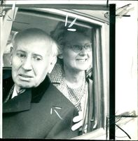 John Poulson with his wife.