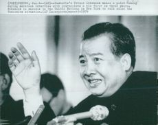 Norodom Sihanouk is interviewed by journalists