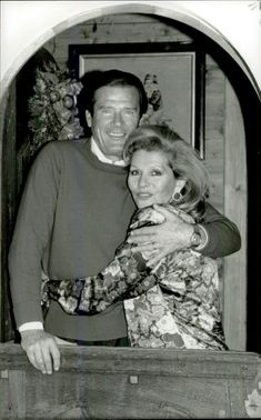 Roger Moore with his wife Luisa in their home in Gstaad